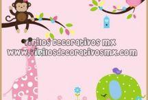 vinilos infantiles de Elefantes / by Vinilos Decorativos MX Mexico Decoracion de interiores con vinil decorativo