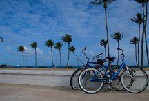 Biking around Palm Beach