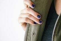 Blue nails outfit VB