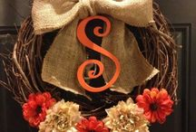 Our front door decor / Wreaths