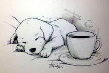 Honden tekening