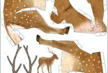 papír állatok