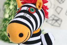 Zebra / Sock animals
