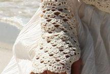 crochet écharpes,gants, chaussons