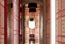 Chinoiserie Hallways / Hallways with Chinoiserie style. / by Beth Connolly // Chinoiserie Chic