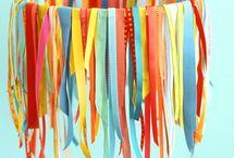 Girlanden / Party-Dekoration, Party-Styling, Ideen für Girlanden, Girlanden für die Mottoparty, Dekorieren, Kinderzimmer-Deko, DIY
