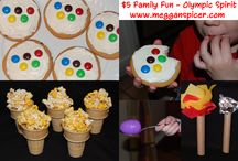 $5 Family Fun - Olympic Spirit  / The Winter Olympics in Sochi are just around the corner.  While they are on the air February 7th – 23rd, invite friends over to join your family for a watch party as well as enjoy your own Olympic games, all for around $5.
