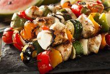 Grilled Chicken & Vegetable Skewers Recipe