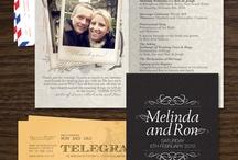 Travel theme wedding invitations
