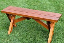 Bancs en bois de cèdre pour votre terrasse