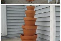 Clay pots to add colour
