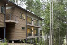 Sloped site houses