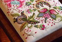 Embroidery: Crewel Jacoben Deerfield
