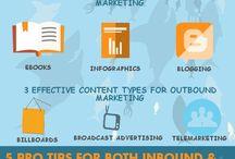 INBOUND/OUTBOUND MARKETING infographics