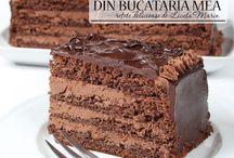 tort de ciocolata si crema de nuci