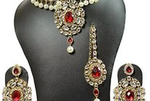 Traditional Wedding Party Kundan Women Jewelry Necklace Set