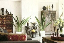 East meets West / Decorative Asian accent pieces and inspired designs in Western homes.