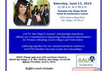 Local AAUWSD Scholarships / Our AAUW San Diego branch provides scholarships to well deserving students in the San Diego area. Every year we have a luncheon to recognize their hard work and hear a speech from them. On our webpage at http://aauwsandiego.org/localscholarships.html will be information on applying.