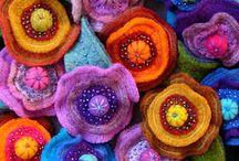 Vilten bloemen