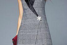 robe gillet careé français