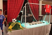 Soccer Bar Mitzvah Themed Party / Custom made decor for soccer themed bar mitzvah party