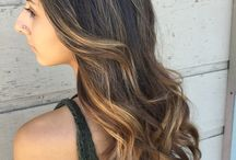 Ombré balyage and babylights and Carmel lights and