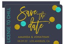 Wedding Save the Date card trends 2018 / Wedding color tends 2018