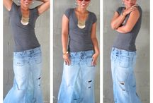 saia comprida em jeans Diy Tutorial