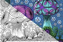 Zentangles and Doodles 3 / Медитация - бесконечна!