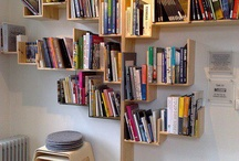 Book selves in wall
