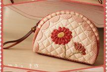 kosmetická taška květy