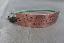 Hand stamped copper / Hand stamped copper by Dormouse and The Teapot
