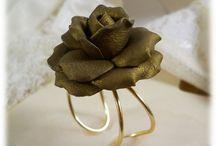 Metallic Flower Jewelry