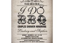 I Do BBQ | Couples Wedding Shower | Bridal Shower | Engagement Party / Ideas and custom and personalized invitations for a romantic I DO BBQ wedding or bridal shower includes barbecue food ideas, fun decoration ideas and more.