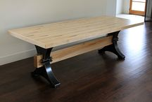 Repurposed, Reclaimed, or Recycled Bowling Equipment / Tables and other furnishings made from salvaged bowling lanes and other bowling equipment.