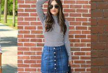 Five Ways To Style The Ever Versatile Denim Skirt!