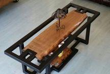 tables metal et bois
