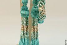 Бисер /  украшения из бисера, схемы жгутов, вышивка бисером