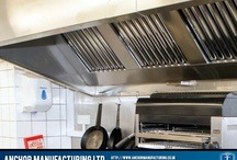 Kitchen Canopy Projects / Anchor Manufacturing LTD fabricate bespoke kitchen canopy units in a range of Sheffield stainless steel finishes. All joints are welded and polished as standard. Here are some examples: