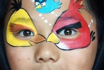 Angry bird facepainting