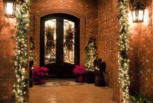 Vianočné - girlandy a vence na dvere