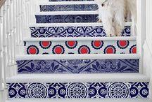 Azul e branco / by Tati Mab