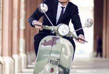 Vespa rider
