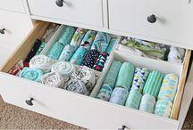 Organização roupas do bebê