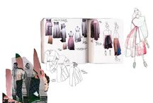 Fashion design sketch book