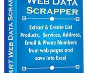 Web Data Scraper Software / SMART Web Data Scraper is finest tool to extract data from websites in tabular form. It can automate the scraping task and extract all pages within short span of time and save your time and manual effort. This tool can be used to get list of products, services and other useful data from web pages. You can export extracted data to Excel.