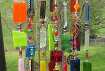 Glass and sparkles / Wind chimes,glass art beads, etc. / by Patricia Lemmon