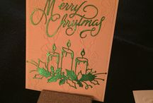 Christmas candles / Ideas for this years Christmas cards and themes