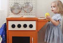 Project make Millie a toy kitchen ideas / by One blue one pink