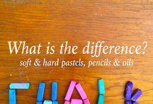 Werken met pastels (krijt & potloden)